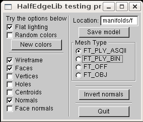 Panel that controls the rendering appearance